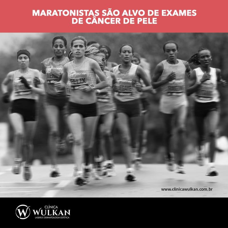 Maratonistas são alvo de exames de câncer de pele