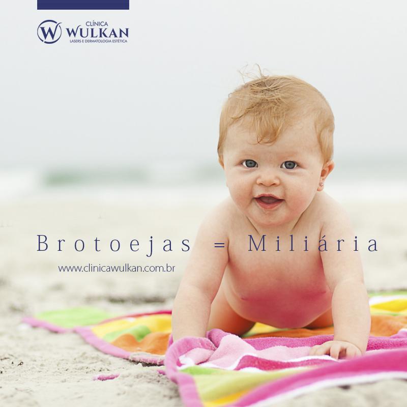 Entenda as causas do aparecimento de brotoejas na pele dos bebês.
