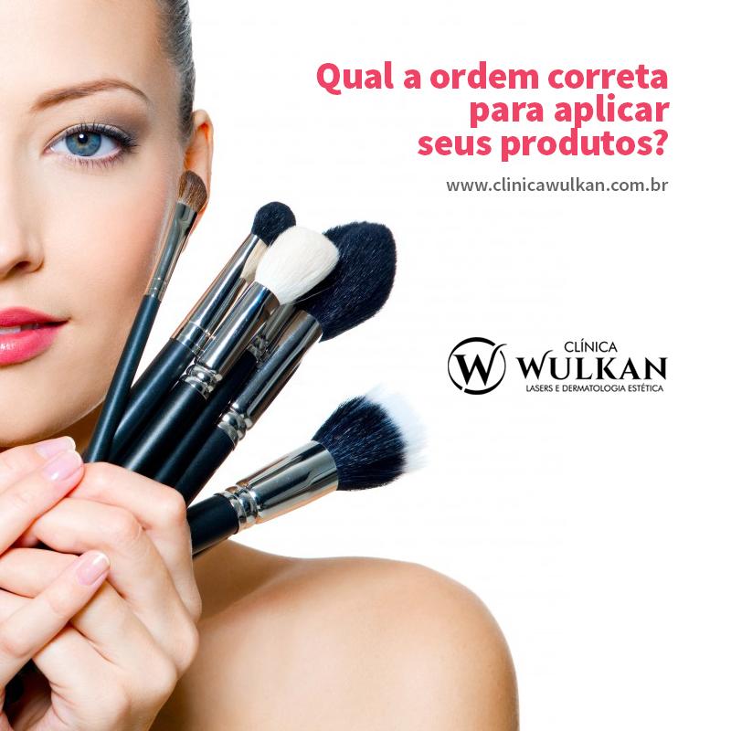 Ordem correta de aplicar produtos na pele