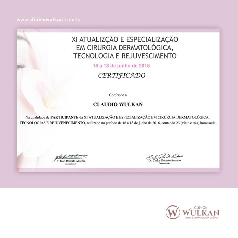 Certificado de participação.