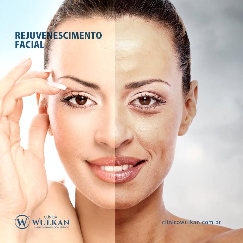 Programa de rejuvenescimento facial.