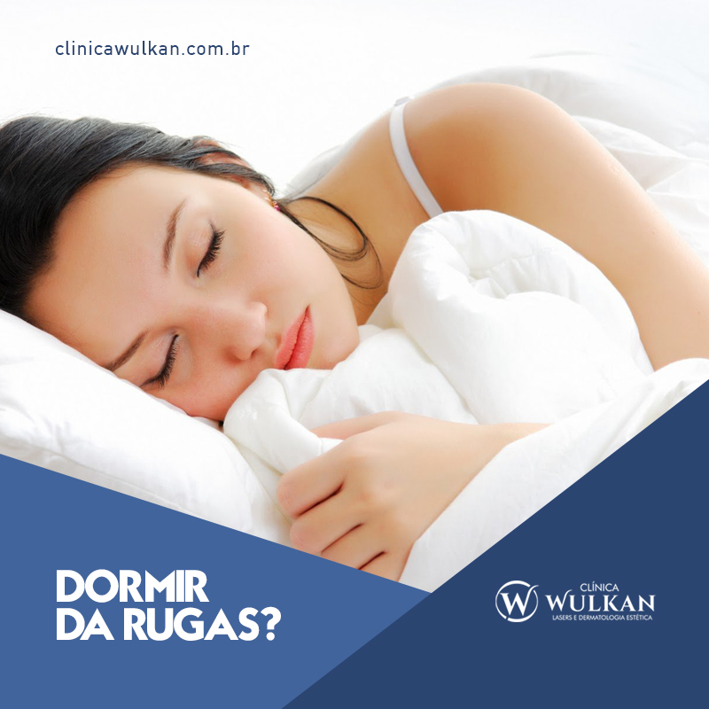 Dormir dá rugas?