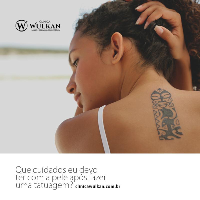 Que cuidados eu devo ter com a pele após fazer uma tatuagem?