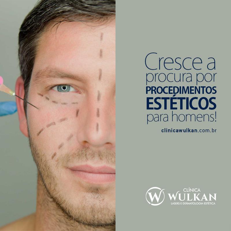 Cresce a procura por procedimentos estéticos para homens!