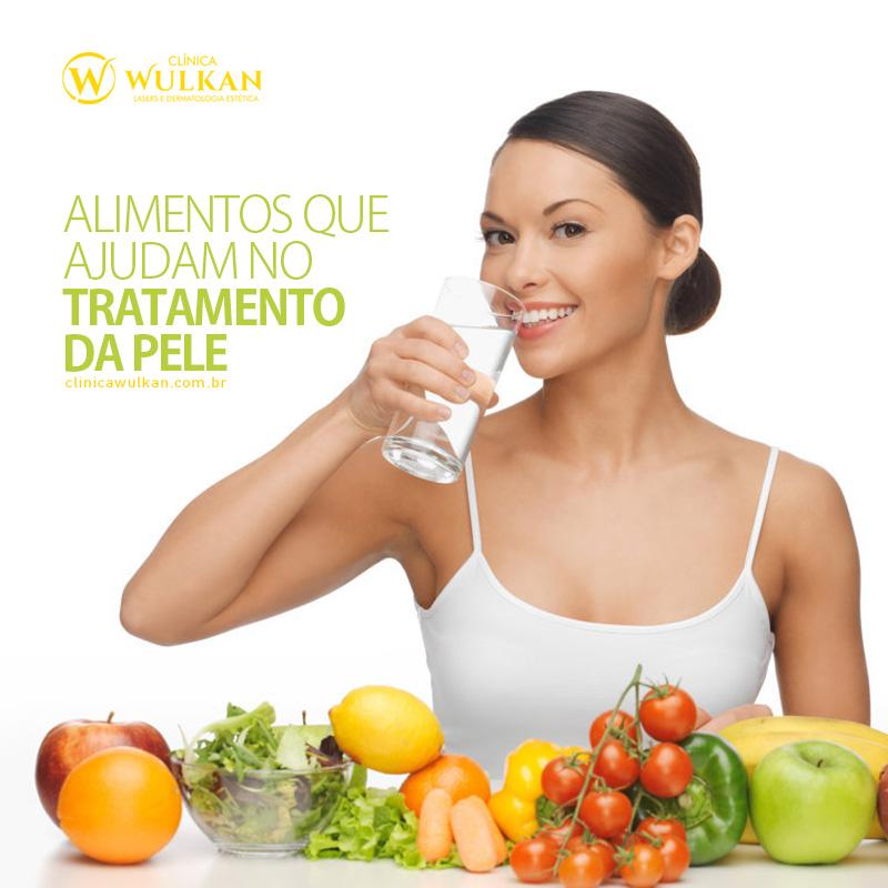 Alimentos que ajudam no tratamento da pele