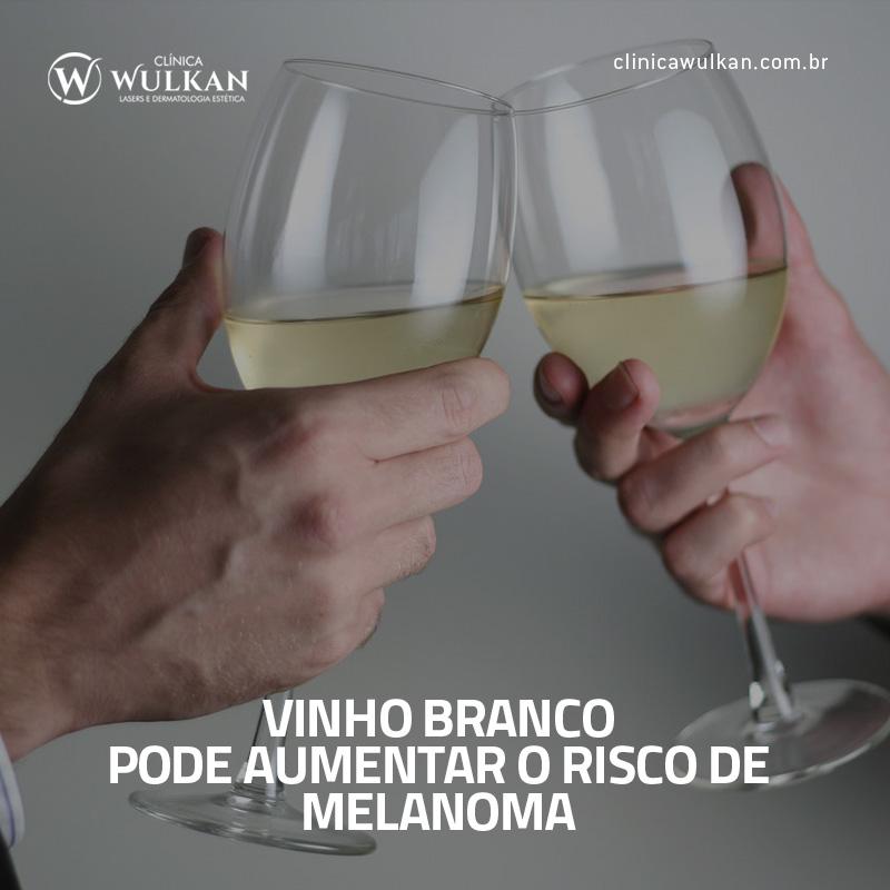 Vinho branco pode aumentar o risco de melanoma