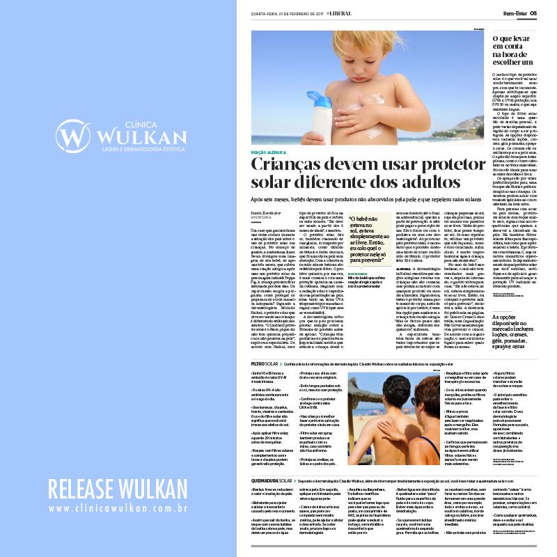 Crianças devem usar protetor solar diferente dos adultos