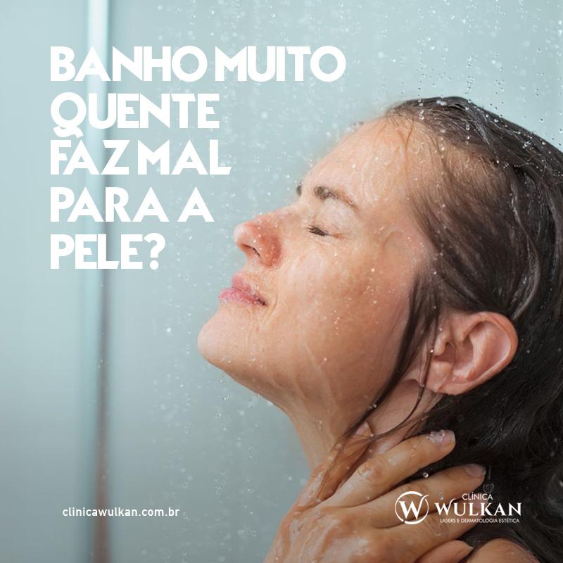 Banho muito quente faz mal para a pele?