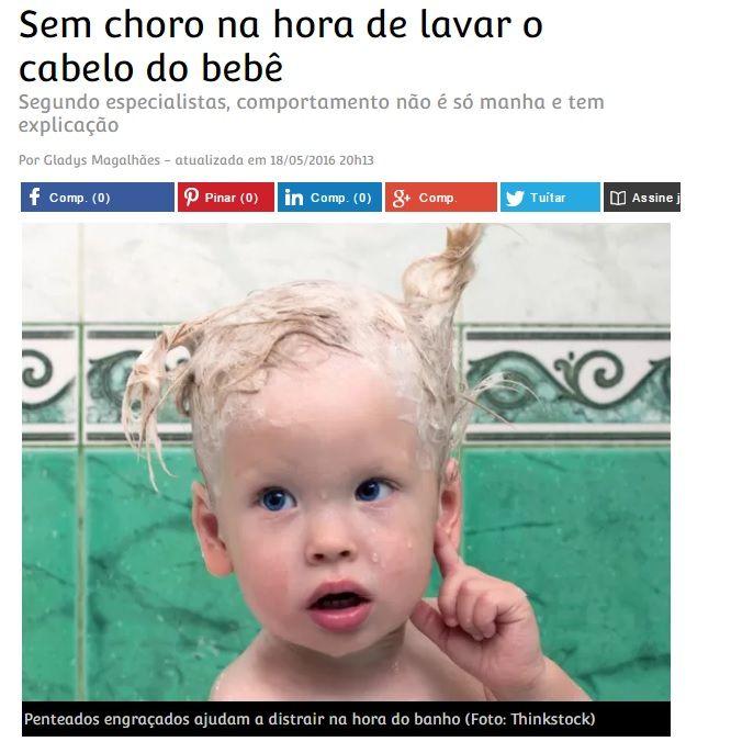 sem choro na hora de lavar o cabelo do bebê