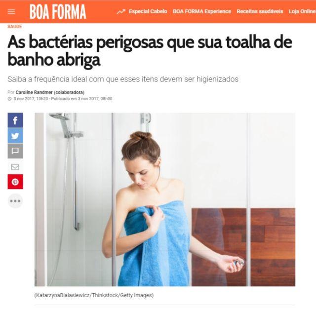 bacterias perigosas na toalha de banho