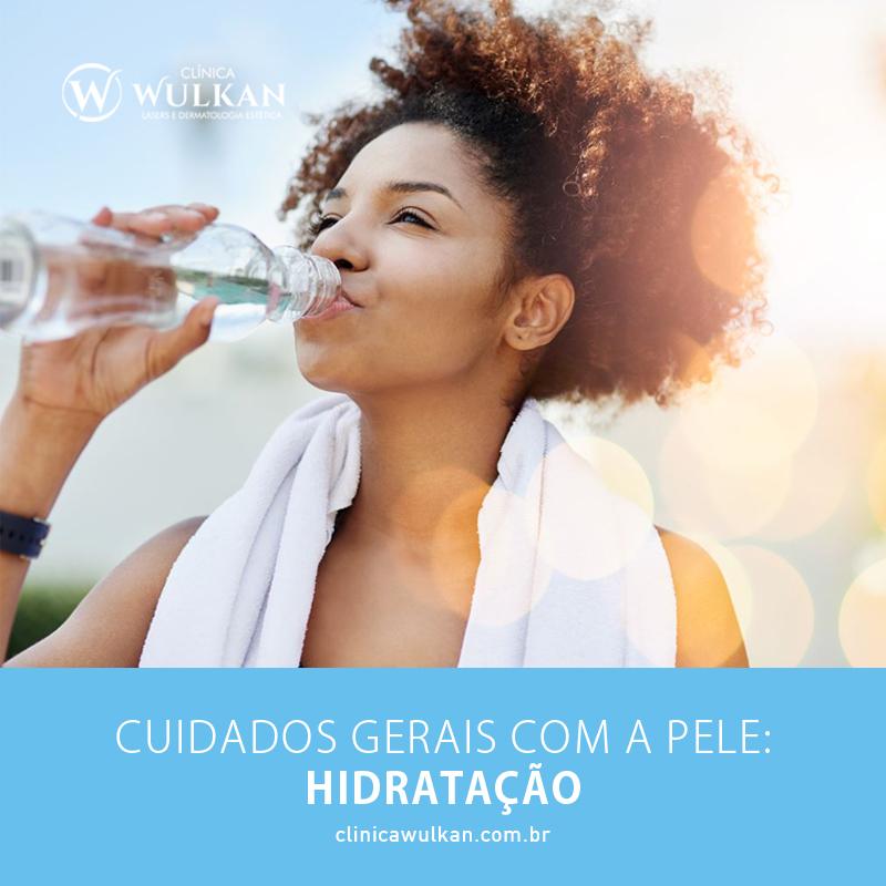 Cuidados gerais com a pele: hidratação