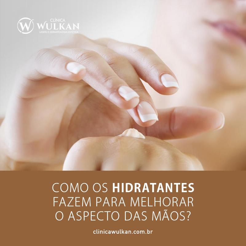 Como os hidratantes fazem para melhorar o aspecto das mãos?