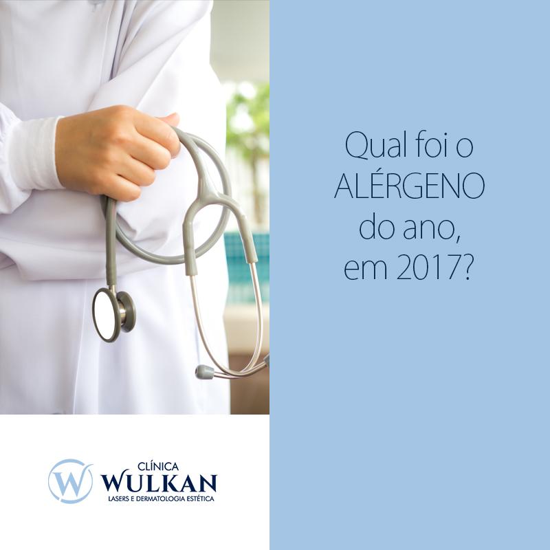 QUAL FOI O ALÉRGENO DO ANO, EM 2017?