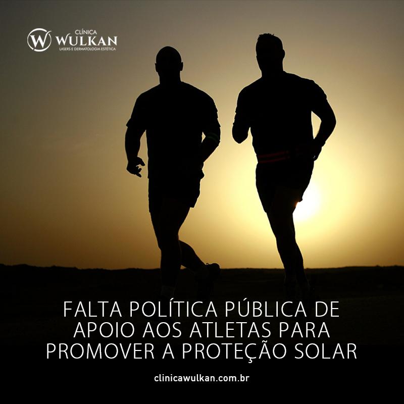 Falta política pública de apoio aos atletas para promover a proteção solar