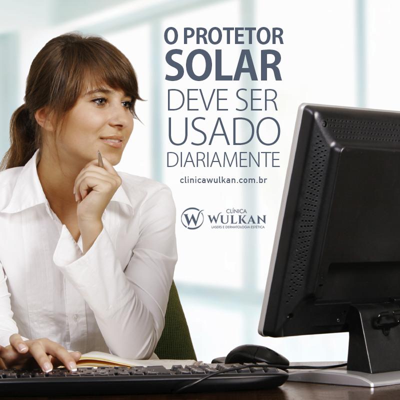 O protetor solar deve ser usado diariamente.