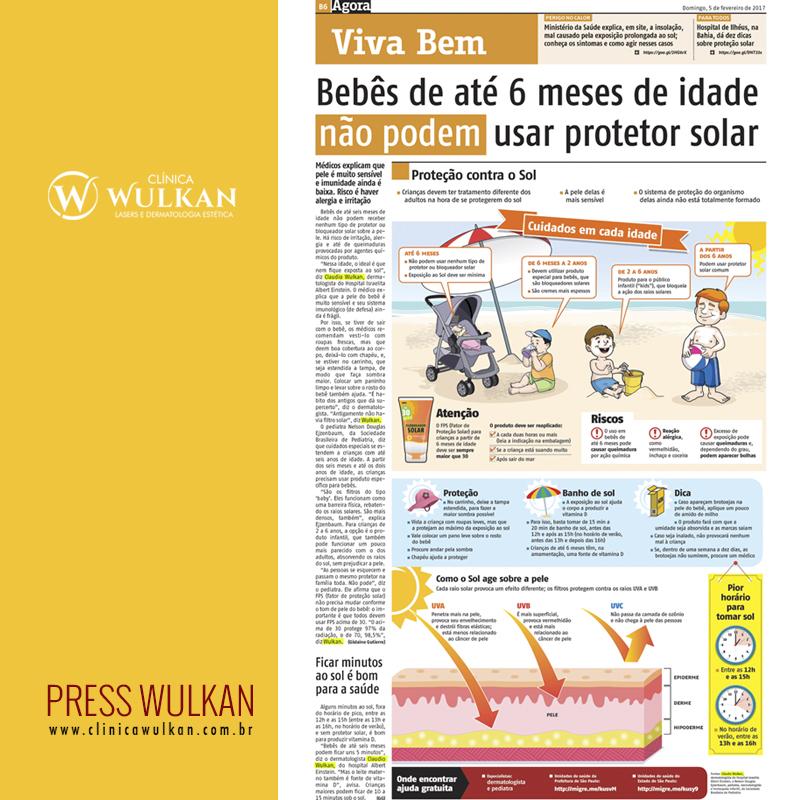 Bebês até 6 meses de idade não podem usar protetor solar.