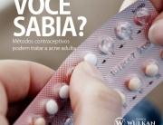 Métodos contraceptivos podem tratar a acne adulta.