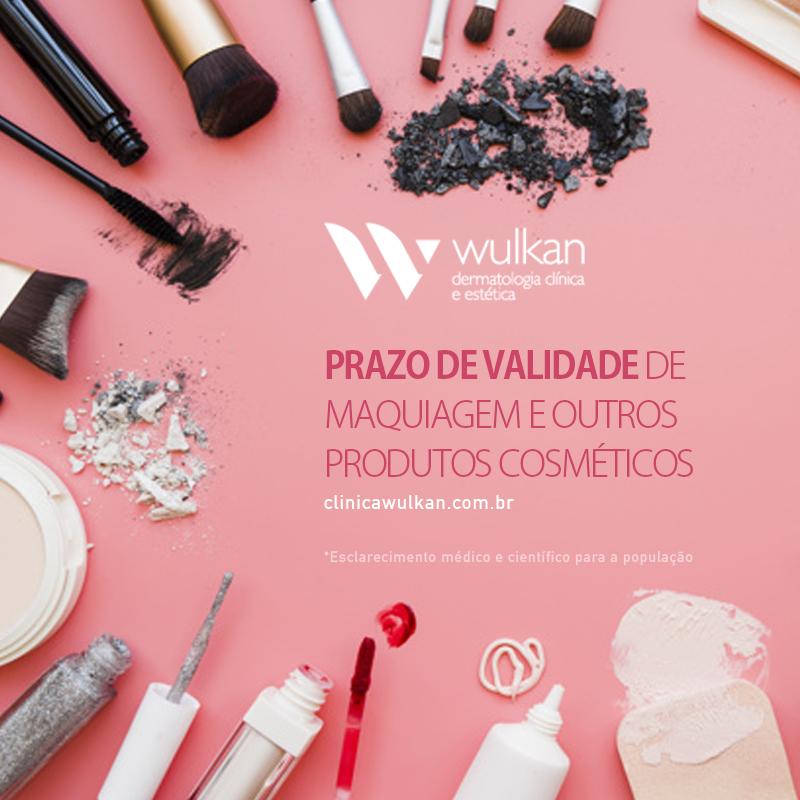 Prazo de validade de maquiagem e outros produtos cosméticos