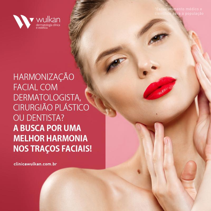 Harmonização facial com dermatologista, cirurgião plástico ou dentista?