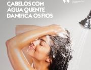 Lavar os cabelos com água quente danifica os fios